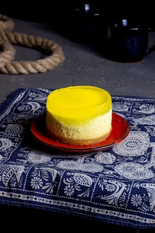 Cheesecake con topping di gelatina