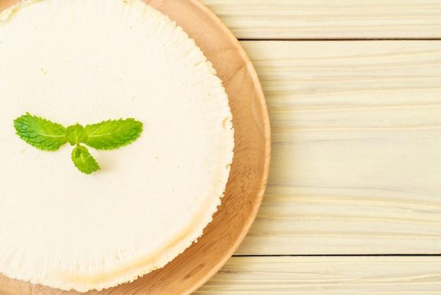 Cheesecake fatta in casa con la menta