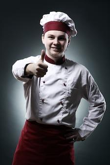 Chef che mostra il segno ok