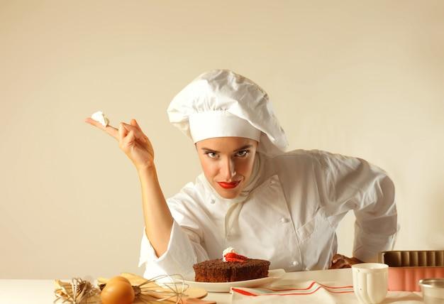 Chef femminile felice