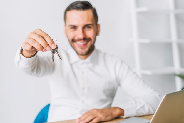 Chiavi della holding dell'agente immobiliare