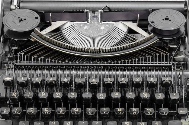 Chiavi della macchina da scrivere d'epoca