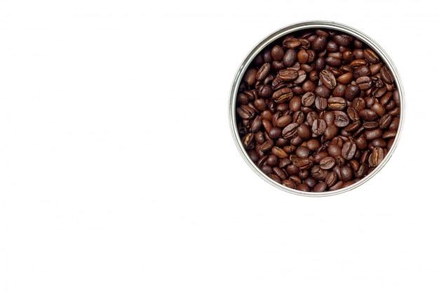 Chicchi di caffè sotto forma di un cerchio