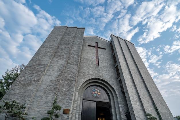 Chiesa cristiana sulle antiche strade di hangzhou