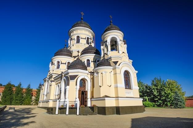 Chiesa di inverno nel monastero di capriana, repubblica di moldavia