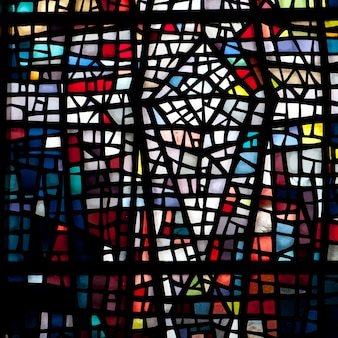 Chiesa finestra di vetro colorato