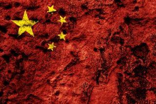 China grunge flag sporcizia
