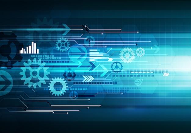 Chip concettuale delle frecce del fondo di tecnologia aziendale digitale