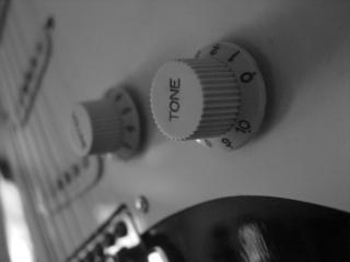 Chitarra elettrica closeup