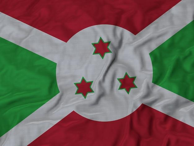 Chiuda in su della bandiera ruffled burundi
