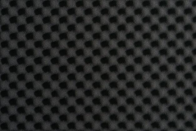 Chiuda in su della parete della gomma piuma della schiuma acustica dello studio