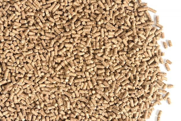 Chiuda in su della struttura granulata dell'alimento animale