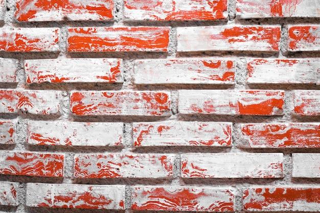 Chiuda in su di vecchia priorità bassa del muro di mattoni. superficie antica stonewall.