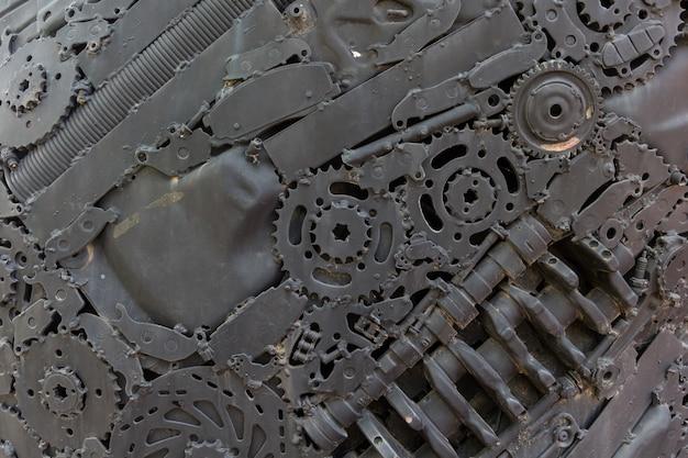 Chiuda su struttura del piatto per pavimento d'acciaio