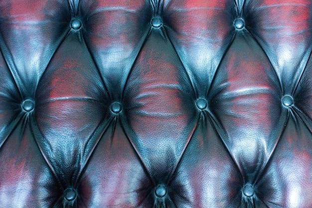 Chiuda sul cuoio dell'annata del fondo di struttura del sofà.