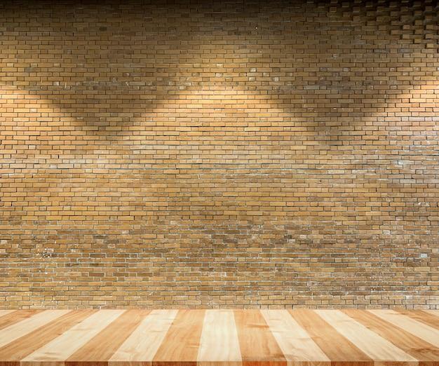 Chiuda sul mattone rustico marrone