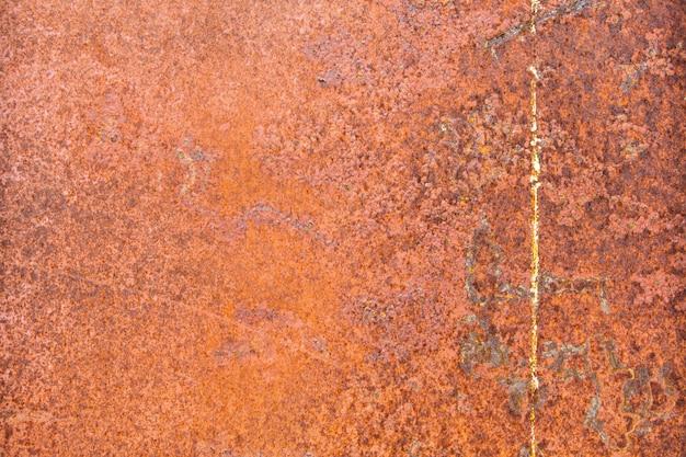 Chiuda sulla priorità bassa di piastra metallica arrugginita
