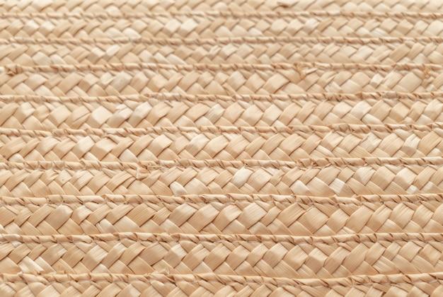 Chiuda sulla struttura del canestro di vimini per uso come fondo. tessitura cestino intrecciato.
