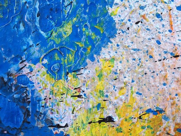 Chiuda sulla struttura variopinta dell'estratto della pittura a olio di tiraggio della mano.