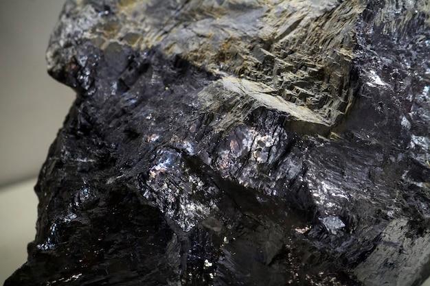 Chiuda sulla vista di un minerale di galena.