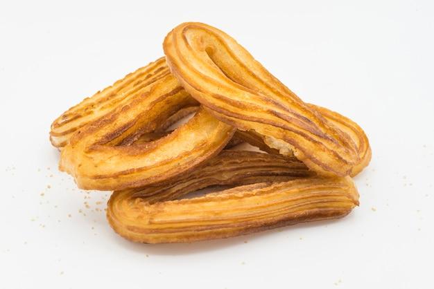 Churros con chocolat tipico dolce spagnolo