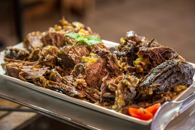 Cibo carne griglia agnello pranzo gourmet