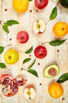 Cibo organico. selezione di cibi sani, alimentazione pulita
