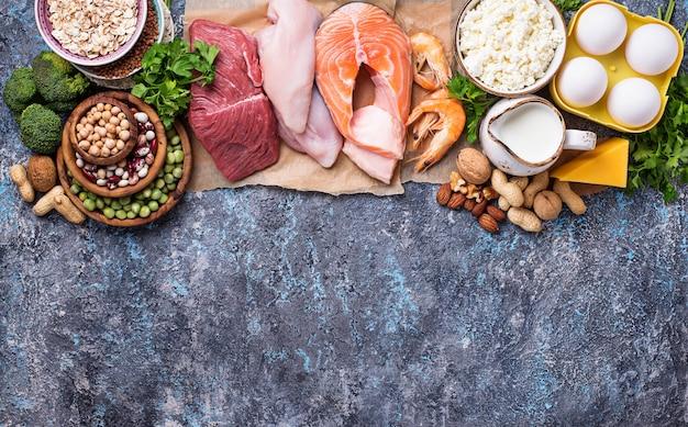 Cibo sano ad alto contenuto di proteine