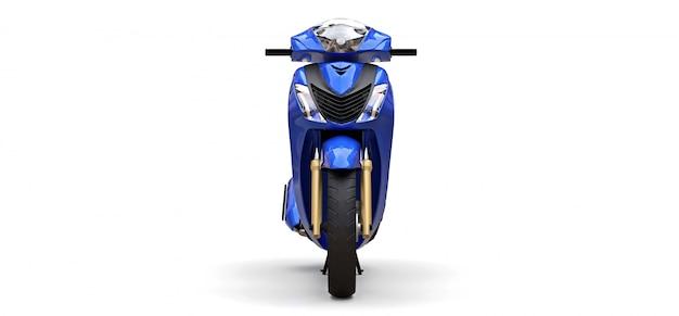 Ciclomotore blu urbano moderno