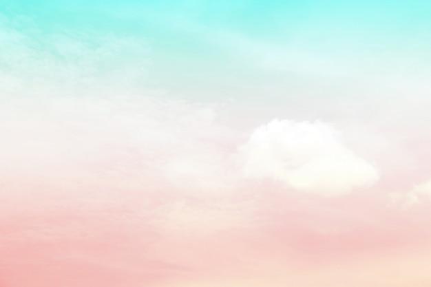 Cielo astratto in colore dolce.