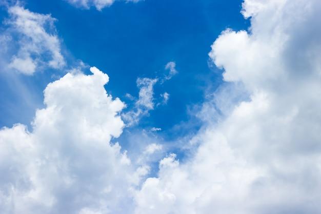 Cielo azzurro con nuvole di sfondo.