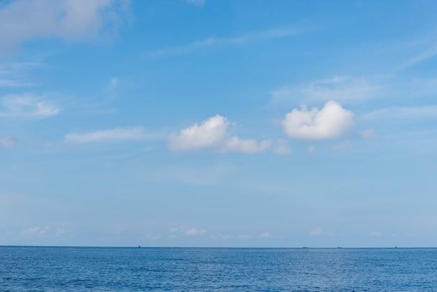 Cielo blu perfetto e acqua dell'oceano