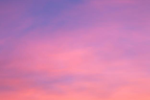 Cielo colorato dopo il tramonto sfondo naturale del cielo.