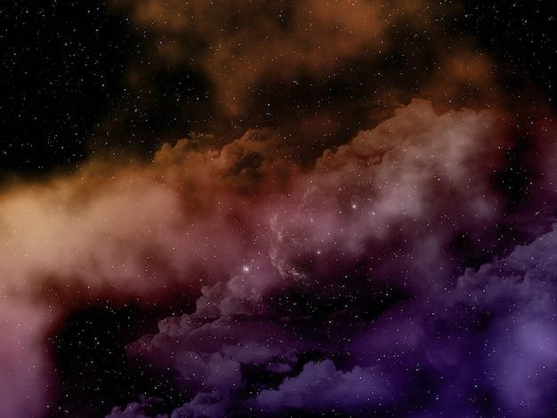 Cielo dello spazio astratto 3d