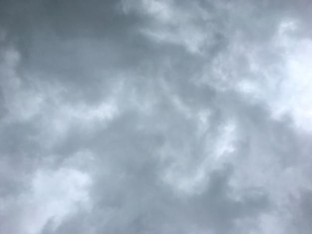Cielo grigio prima della pioggia, sfondo nuvoloso grigio