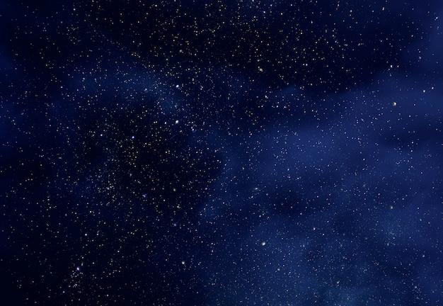 Cielo notturno con stelle e morbido universo della via lattea