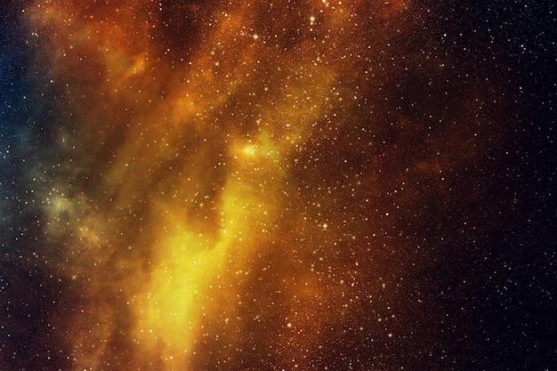 Cielo notturno con stelle e nebulosa