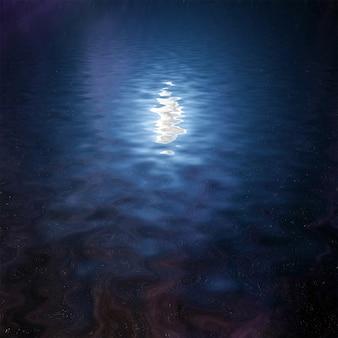 Cielo notturno riflesso nell'acqua