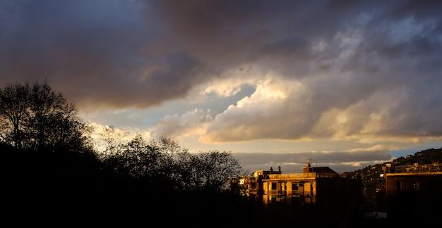 Cielo nuvoloso a trieste