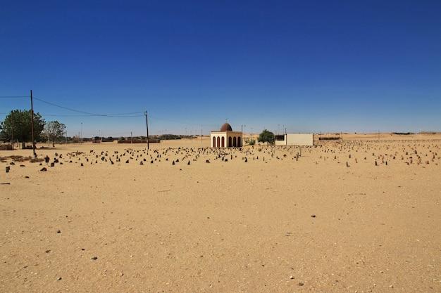 Cimitero arabo in sudan, africa