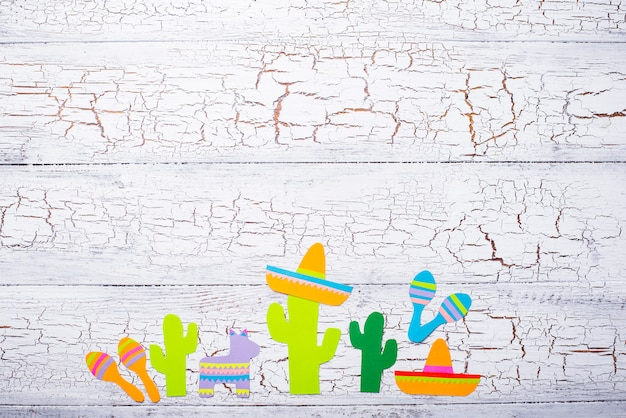 Cinco de mayo, concetto di festa della fiesta messicana.