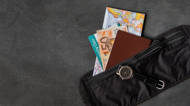 Cintura con passaporto