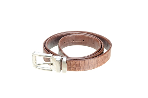 Cintura vintage realizzata con pelle di coccodrillo