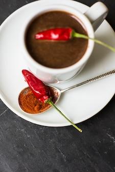 Cioccolata calda al pepe