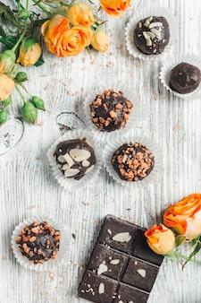 Cioccolatini in un cesto