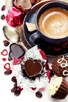 Cioccolato e caffè per san valentino