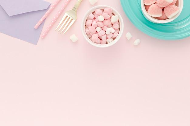 Ciotola con gelatina per la festa