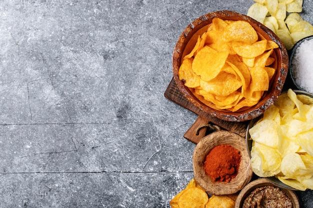 Ciotola di patatine fatte in casa