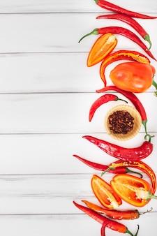 Ciotola di peperoni e spezie