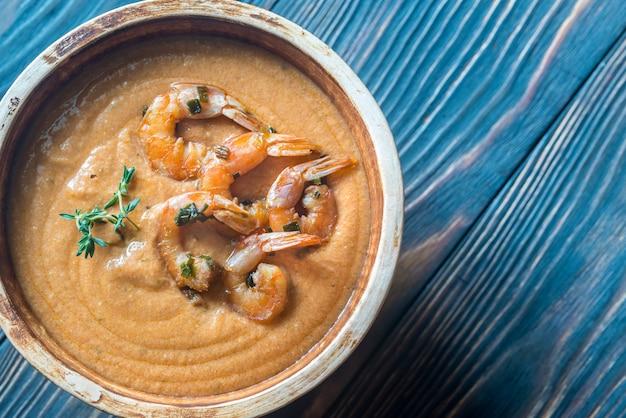 Ciotola di zuppa di bisque
